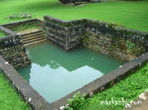 stepped well inside the fort
